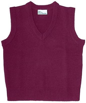 Classroom Uniforms 56914 Adult's V-Neck Sweater Vest Burgundy Small