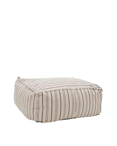 Safavieh Large Pouf, Multi-Stripe