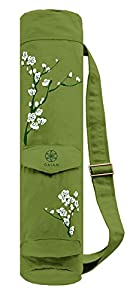 Amazon Com Gaiam Yoga Mat Bag Cherry Blossom Sports