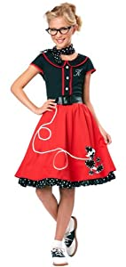 California Costumes 00401 50's Sweetheart Child Costume, Large