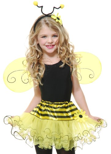 Charades Kids Toddler Girls Bee Bumblebee Halloween Costume Set