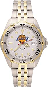 Los Angeles Lakers Mens All Star Watch Stainless Steel Bracelet by Logo Art