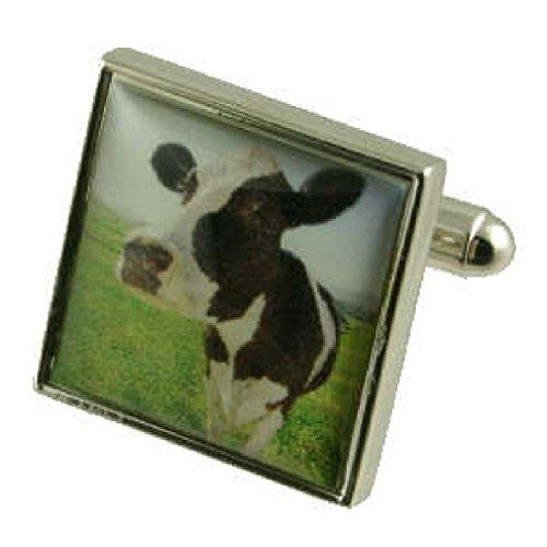 lagriculture-vache-boutons-de-manchette-boutons-de-manchette-pour-hommes-en-argent-massif-925-boite-