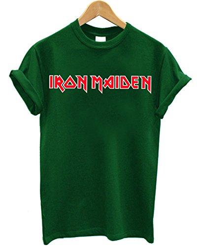 T-shirt Uomo Iron Maiden - Maglietta Rock Metal 100% cotone LaMAGLIERIA,L , Verde