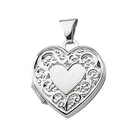 New Sterling Silver Heart Shaped Locket - 20mm