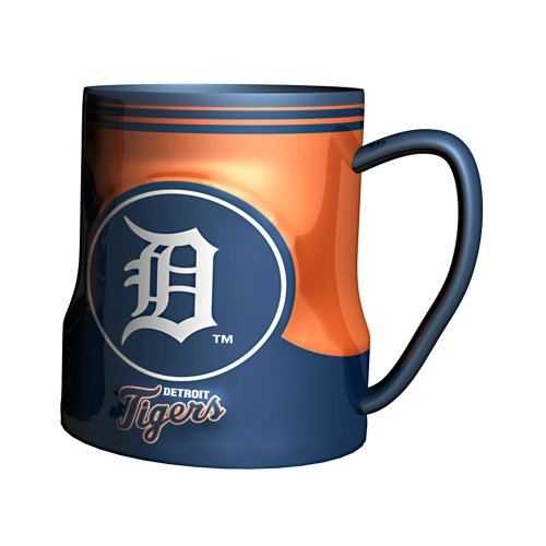 Mlb Detroit Tigers Sculpted Game Time Coffee Mug, 18-Ounce