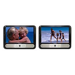 """Product Image RCA Twin 9"""" Mobile DVD System - Black (DRC6296)"""