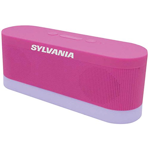 Sylvania SP136-pink Bluetooth Moonlight Speaker with 7-Color Changing LED Lights (Pink)