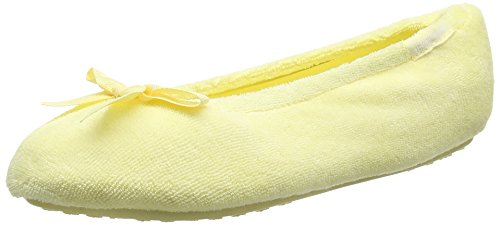 isotonerterry-ballet-with-spot-bow-pantofole-donna-giallo-giallo-yellow-s