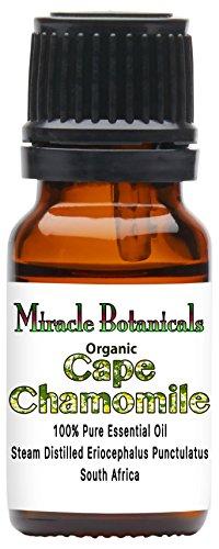 Miracle Botanicals Organic Cape Chamomile Essential Oil - 100% Pure Eriocephalus Punctulatus - Therapeutic Grade 10ml