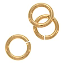 buy Beadaholique 6-Piece Filled Jump Lock Rings, 6Mm, 18-Gauge, Gold