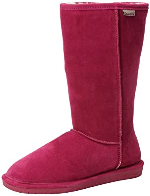 BEARPAW Women's Emma Tall Boot,Pom Berry,5 M US
