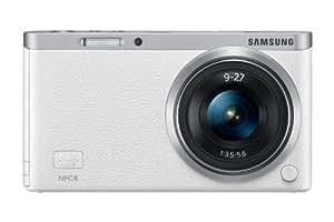 Samsung NX Mini Smart Systemkamera (20 Megapixel, 2-fach opt. Zoom, 7,5 cm (2,9 Zoll) Display, Full HD Video, bildstabilisiert, inkl. 9-27mm Objektiv) weiß