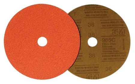 3M 3M-55971 Holed Fiber Abrasive Disc Grade - 24, Size - 7 x 7/8 электроинструмент 3m abrasive belt machine