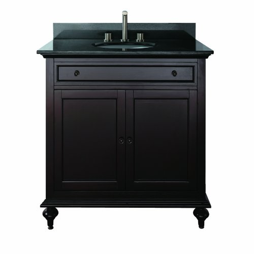 Avanity Merlot-VS30-ES Vanity Set and Undermount Sink Espresso, 30-Inch