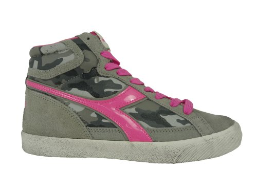 DIADORA - art. CONDOR C grey/pink camouflage - scarpe moda fashion - sneakers alte donna (EUR 39 - UK 6)
