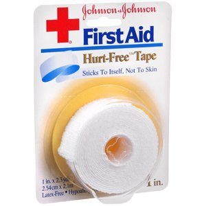 Johnson & Johnson Hurt Free Tape 1 Ix 2.3 Yds 1 Each front-820026