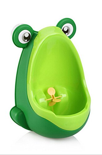 Boys Frog Potty Training Urinal with Whirling Target (Green)