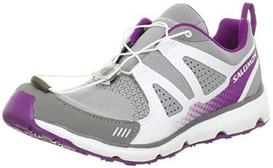 Salomon Women's S-Wind Inca Oxford - 7 M - Pewter-White-Purple-Microfiber