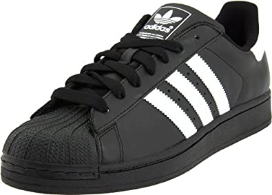 adidas Originals Men's Superstar II Court Sneaker,Black/White/Black,7.5 D US