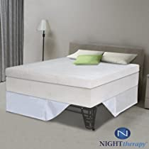 "Hot Sale Night Therapy 13"" Pillow Top Pressure Relief Memory Foam Mattress & Bed Frame Set - Full"