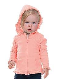 Kavio! Infants Sunflower Long Sleeve Zip Hoodie Flamingo 18M