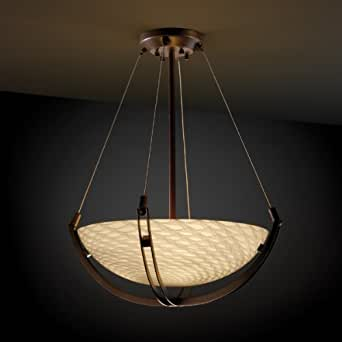 Justice Design Fsn9721 Crossbar Fusion 18 Round Bowl Pendant Light With