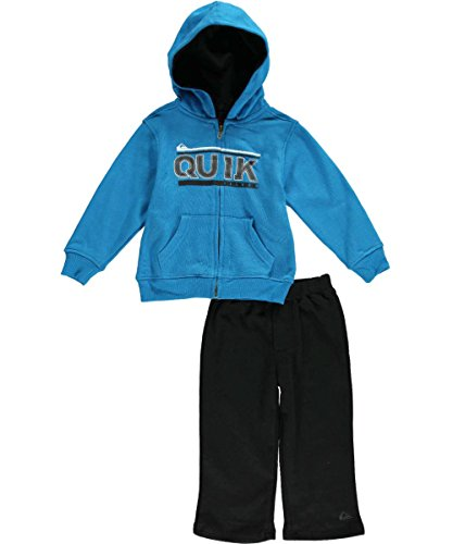 Quiksilver Baby-Boys Infant Blue Hoody With Pull On Pants, Blue, 24 Months front-708910