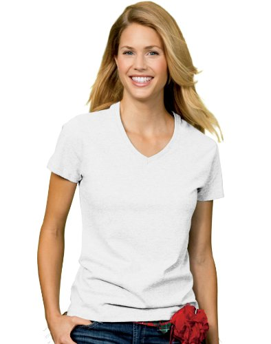 Hanes Women's Relax Fit Jersey V-Neck Tee 5.2