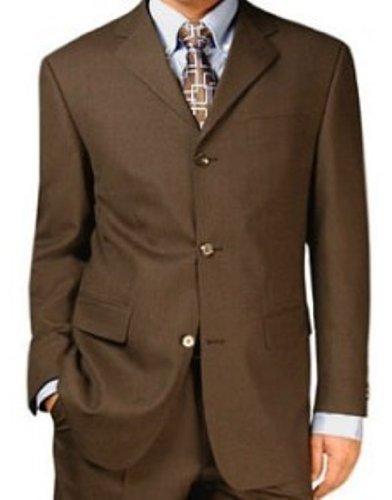 MUGA mens Suit + Waistcoat, Brown, size 50L (EU 114)