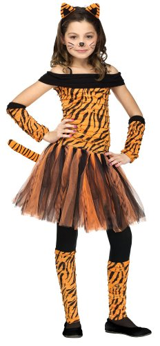 [Girl's Tiger Halloween Costume - Tigress Costume WB (4-6 with Bracelet for Mom)] (Tiger Costumes Girls)