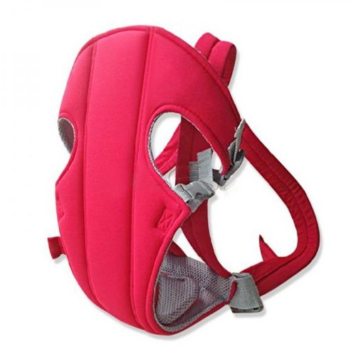 Baby Carrier Backpack Front Back Rider Sling Comfort Wrap Bag (Red) front-1055447