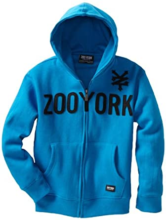 Zoo York Boys 8-20 Straight Core Hoody Tee, Blue, Medium