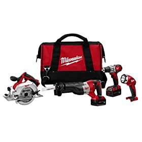 Factory-Reconditioned Milwaukee ML2691-84 18-Volt Cordless M18 Lithium-Ion 4-Tool Combo Kit with Bag