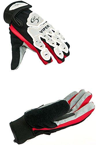 Sport DirectTM Viper - Guantes para ciclismo BMX (palma ergonómica, acolchado, protección de nudillos, cierre con velcro) Talla:small