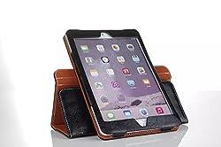 ProElite Luxury Leather HandStrap 360 rotatable Flip Case Cover for Apple iPad Mini 4 [Wake & Sleep Function] (Black) (Magnetic Lock)