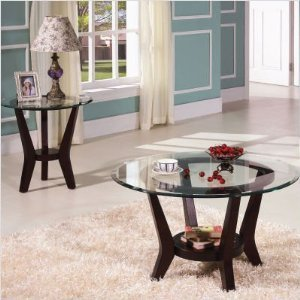 Cheap Home Line T546EG End Table Glass Top (T546EG)