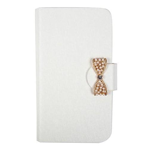 【Lifees】iPhone 6,6 Plus 6色 リボン 手帳型ケース 折りたたみ式 フリップケース おすすめ 横開き マグネット式 カードホルダー付き 手帳型カバー スマホケース アイフォン ケース (iPhone 6s / 6 ホワイト)