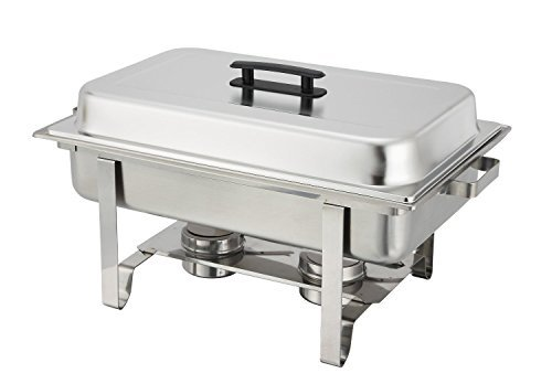 2 Newburg Chafer C-3080B - 8 qt Oblong Stainless Steel Winco