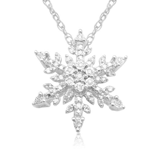 10k white gold diamond snowflake pendant 110 cttw i j color i3 10k white gold diamond snowflake pendant 110 cttw i j color i3 clarity 18 mozeypictures Gallery