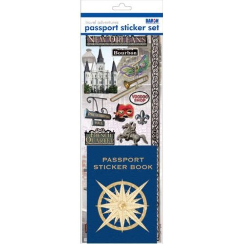 Passport Sticker Sets PP59227 Passport or Scrapbooking Sticker Set-New Orleans - 1