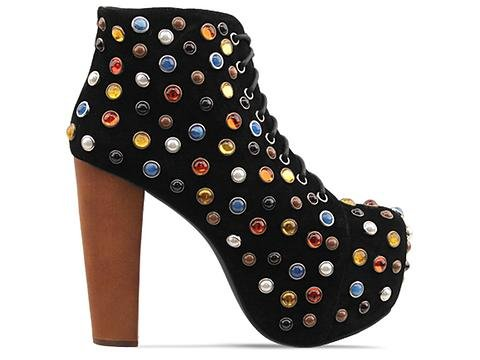 Image of Jeffrey Campbell Lita Black Suede Multi (B006B8HFCQ)