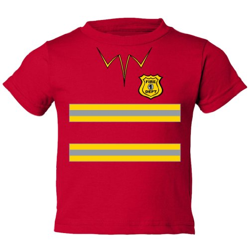 Festive Threads Little Boys' Fireman Costume Toddler T-Shirt