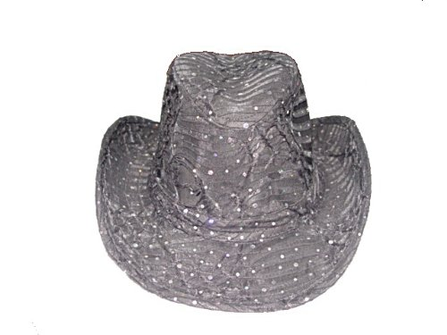 New Western cowboy HAT One size Fit hat - Wired reshapable brim - Cotton Black