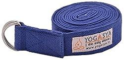 Yogasya - Yoga Belt - 8 Feet Length - Yoga Props - For Safe, Perfect & Challenging Yoga Posture - Blue