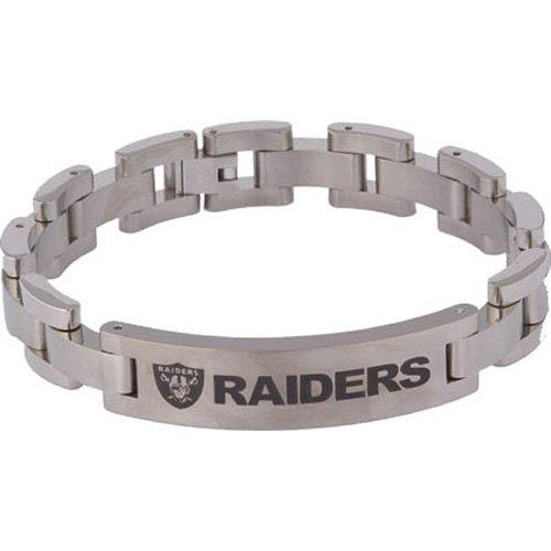 Team Titanium Oakland Raiders Women's Titanium Bracelet