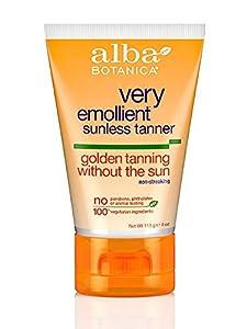 Alba Botanica: Very Emollient Sunless Tanner, Golden Tanning 4 oz