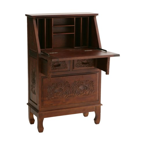 Antique Hutch SEI Hand Carved Secretary Desk Big SALE