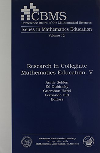 Research in Collegiate Mathematics Education. V: v. 5 (CBMS Issues in Mathematics Education)