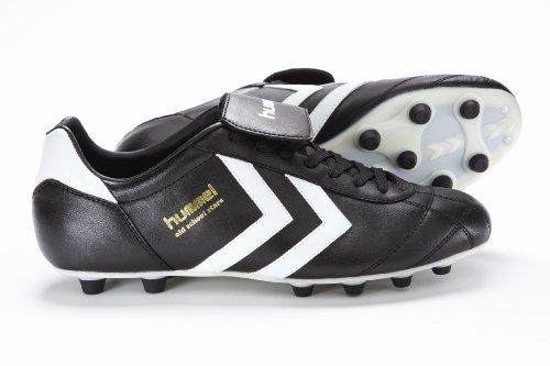 Old School Men's Star Firm Ground Kangaroo Football Boot Black/Custard/Vanilla 610832560 8.5 UK